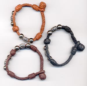 chocolate, black, tand with beads