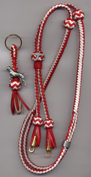 red/white stripe tassel