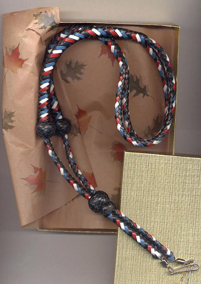 Patriot / black main color , plus red, white , blue -shown in a gift box