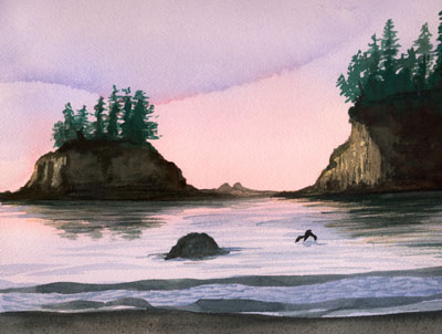 Oregon Coast Note Card